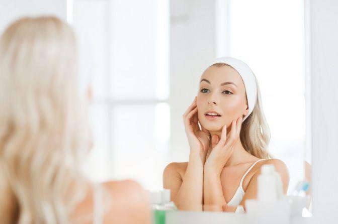 массаж лица перед зеркалом