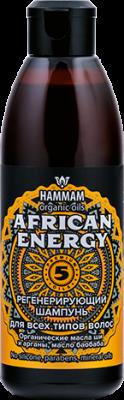 HAMMAM organic oils AFRICAN ENERGY регенерирующий шампунь с 5 премиальными маслами 320мл купить с доставкой по России и СНГ по выгодной цене